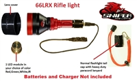 66LRX Rifle light with 1-4 colors