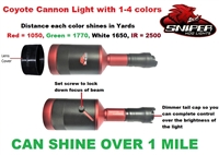 Coyote Cannon light with 1-4 colors