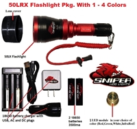 50LRX Flashlight package with 1 - 4 colors