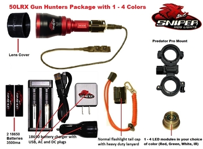 50LRX Gun hunters pkg. with 1 - 4 colors