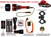 66LRX Gun hunters pkg. with 1-4 colors