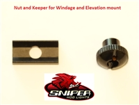 Nut and Keeper for Windage and Elevation mount