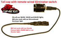 Tail cap with remote wired Eliminator switch