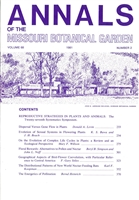 Annals of the Missouri Botanical Garden 68(2): Reproductive Strategies in Plants and Animals, 27th Annual Systematics Symposium