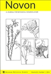 Novon 25 (1), A Journal for Botanical Nomenclature