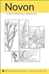 Novon 25 (4), A Journal for Botanical Nomenclature
