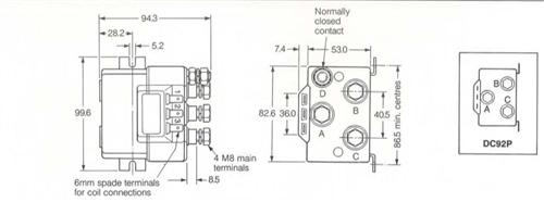 Albright DC88 DC Motor Reversing Solenoid Contactor
