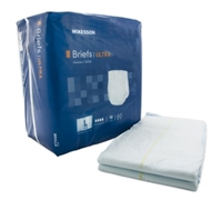 Adult Incontinent Brief McKesson Ultra Tab Closure Large Bag of 18