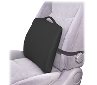 Lumbar Cushion with Elastic Strap - Black Cover