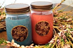 Mason jar soy candle twin-pack
