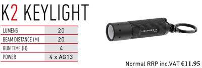 LED LENSER K2 KEYLIGHT