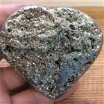 Hand Carved Pyrite Heart