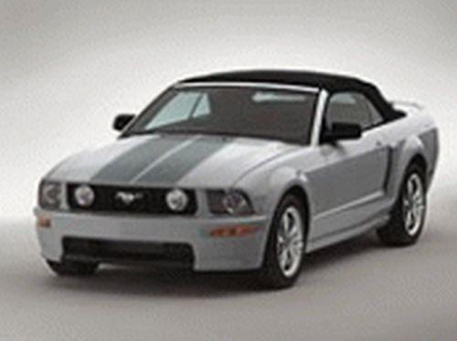 2008 Ford Mustang Convertible Racing Stripes