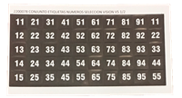 V5 Tray Selection Numbers