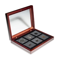 1968 Uncirculated Coin Set in Custom Mahogany Display Case