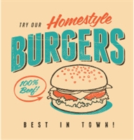 Homestyle Burgers Screen Print