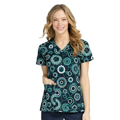 Med Couture Valerie Print Top in Circle of Life