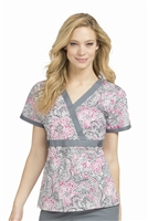 Med Couture Milan Print Top in Stenciled Design