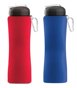 ASOBU Sili-Squeeze Silicone Squeezable Freezable Water Bottle
