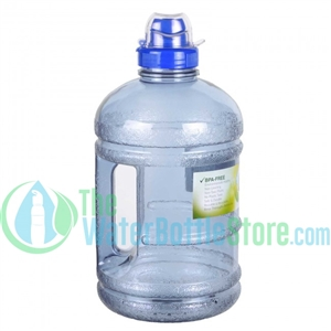 Half Gallon 64oz Blue Water Bottle Handle Sports Top