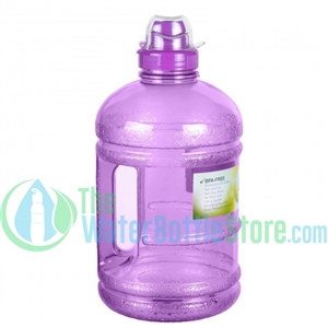 Half Gallon 64oz Purple Water Bottle Handle Sports Top