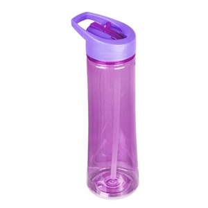 22oz Purple Flip Straw Reusable Water Bottle