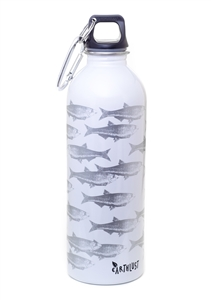 EarthLust 1 Liter Fish Stainless Steel Water Bottle