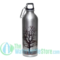 EarthLust 1 Liter Tree Stainless Steel Metal Water Bottle -
