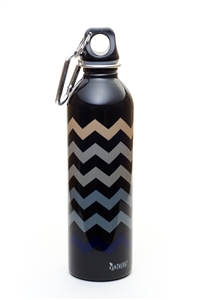 EarthLust 20 oz Chevron Stainless Steel Metal Water Bottle
