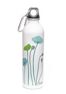 EarthLust 20 oz Poppy Stainless Steel Metal Water Bottle