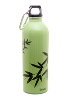 EarthLust 1 Liter Bamboo Stainless Steel Metal Water Bottle