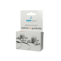 Valve + Gasket Replacement Pack for 11oz Kid Basix Safe Sippy Water Bottle