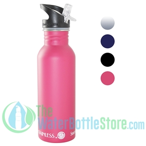 New Wave Enviro .6L (20oz) Stainless Steel Metal Water Bottle