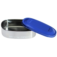 new wave enviro stainless steel food container blue lid