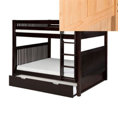 Full over Full Bunk Bed Trundle Mission Natural