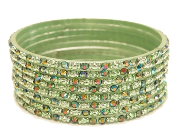 Light mint green glass bangles from our Prism Collection.