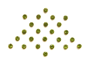 Tiny crystal bindi dots in a olive green.