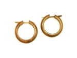 Small Wood Hoop Earrings Organic Wooden Tribal Hoops 1""