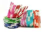Deluxe Bangle Kit 42 Glass Indian Bollywood Belly Dance Bracelets