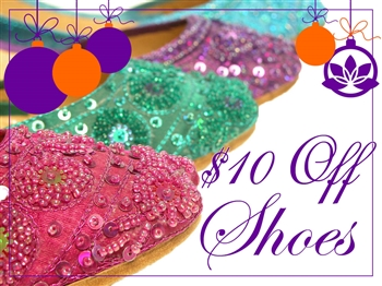 Beautiful Flats Silk shoes with matching beads and sequins.