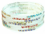 White Indian GLASS Bracelets Build-A-Bangle S 2.6