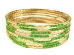 Lime Indian GLASS Bracelets Build-A-Bangle S 2.6