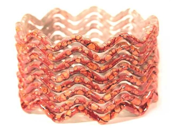 Zig Zag Red Indian GLASS Bracelets Build-A-Bangle XL 2.12