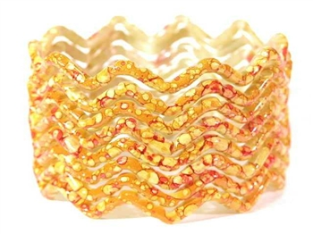 Yellow Indian GLASS Bracelets Build-A-Bangle S 2.6