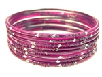 Purple Indian GLASS Bracelets Build-A-Bangle S 2.6
