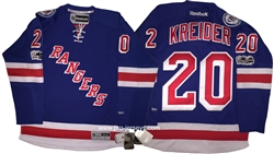 Reebok Premier 90th Anniv / 100th NHL Anniv New York Rangers #20 Chris Kreider Home Jersey