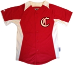 Red Majestic Pro Style Cool Base Batting Practice Jersey