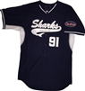 Authentic Long Island Sharks Majestic Cool Base Jersey