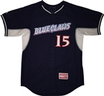 Authentic Bellport Blue Claws Majestic Cool Base Jersey