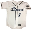 Authentic Majestic Long Island Clippers Cool Base Piped Jersey